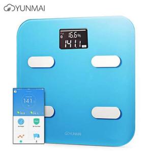 YUNMAI App Control Bathroom Scale تقنية البلوتوث الذكية للدهون في الجسم مقياس الوزن الإلكتروني BMI LCD Design