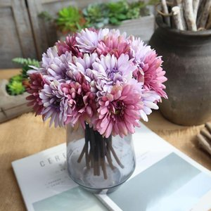 Moda seta artificiale fiore margherita festa nuziale decorazione favore colorato romantico Gerbera fiori finti coperta bouquet nuziale uso 8 2fh Z
