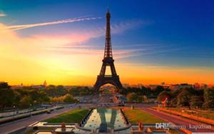Sunrise Paris'te Eyfel Kulesi Ev Dekor Sanat Posterler Baskı Fotoğraf Kağıdı 16 24 36 47 inç
