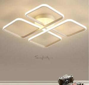 Moderna dimmerabile Led soffitto Lampade Piazza Surface Mounted Lampada da soffitto per il salone Letti con telecomando illuminazione di controllo