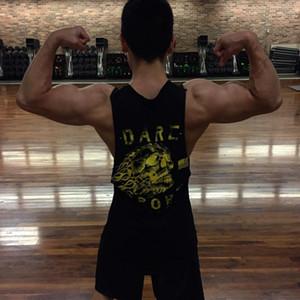 Polyester Marka Erkek Kurt Kolsuz Yelek Yaz Sıkıştırma Erkek Tankı Spor Salonları Giyim Vücut Geliştirme Atlet Spor Tank Tops