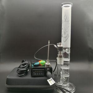 E Digital Nail Kit mit Dab Rigs 6 in 1 Upgrade elektrische Dab Nagelheizung Spule für hohe Glas Percolator Wasserpfeife Bong