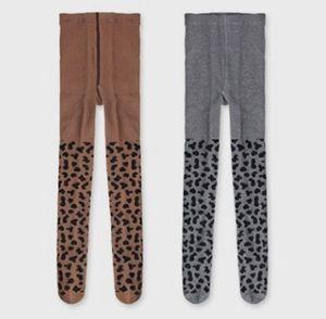 INS crianças meia-calça outono novo padrão leopardo meninas grão collants bebê macio algodão PP fundos Moda Infantil princesa leggings F0451