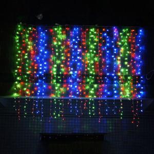 NEW Design 3 * 3м Led занавес Fairy Light Decor свет строк Красивая Новогодняя вечеринка Lamp 300 Led на Рождество Свадьба День рождения