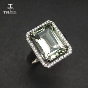 TBJ,natural green amethyst 7.5ct gemstone Ring in 925 sterling silver jewelry for women as birthday anniversary valentines gift Y18102610
