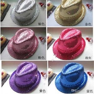 Paillettes Jazz Dance Caps Uomini E donne Stage Magic Hat Show Party Supplies Cappelli Performance Per Halloween Eve Cheer Up 4 6 bb bb