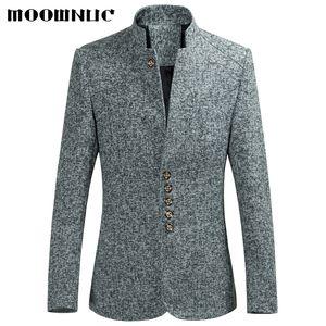 Chaquetas de los hombres de la venta caliente del otoño del estilo chino trajes casuales de gran tamaño masculinos trajes de moda de primavera capa de la marca de alta calidad MOOWNUC 6XL D18101001