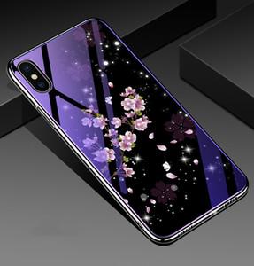 2018 Electro плакировка синий свет для iPhone 6 стекло закаленное стекло телефон чехол для С8 Protecive чехол