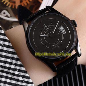 4 Renk Ucuz Yüksek Kalite IW326501 Siyah Tarih Dial Japonya Miyota Otomatik Hareketi Mens Watch Siyah Kılıf Deri Kayış Spor Saatleri 04