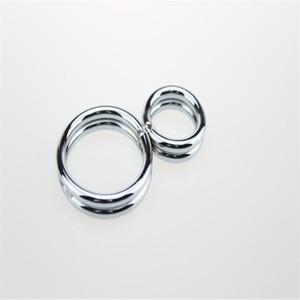 Metal stainless steel 8 word ring lock fine delay long-lasting ring adult erotic sex toys