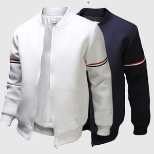 Mens Designer Giacche Autunno maschio tinta unita colletto a maniche lunghe Colletto Cappotti Primavera Mans Sottile Capispalla