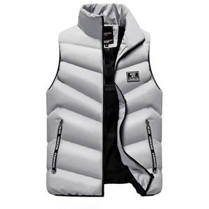 Yeni Sonbahar Kış 2018 Erkek Ceket Kolsuz Veste Homme Rahat Yelekler Yelekler Erkekler Coats Artı Boyutu M-4XL