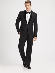 dress wedding tuxedo for groom wear slim fit custom made 2020 suit black two piece suits jacket