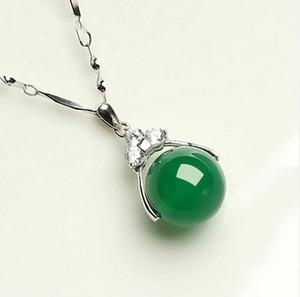ciondolo in giada con diamanti per trasferimento di calcedonio in argento 925 passepartout yunu