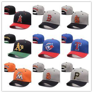 2018 Comercio al por mayor de encargo populares del snapback del béisbol todas las tapas tapas de equipos de baloncesto Latina Deportes Snapback sombreros ajustados equipado sombreros