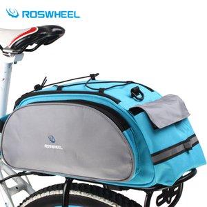 Roswheel Bolsa de Bicicleta Multifunción 13L Bike Tail Rear Saddle Bicicleta Ciclismo Bicicleta Basket Rack Tronco Hombro Bolso