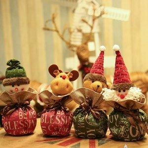 Сочельник рождественские украшения конфеты мешок Письмо Printed снеговика Санта-Клауса Apple, сумка мешок подарков украшения подарков Apple, сумки для ребенка
