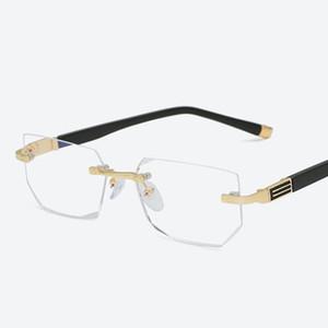2020 Anti-голубой свет для чтения очки дальнозоркостью очки Прозрачное стекло объектива Унисекс очки без оправы Рамка очки прочности +1,0 ~ +4,0