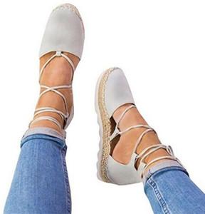Hot! Women Sandals 2018 Summer Gladiator Style Flats Sandals Shoes Woman Casual Cross-Strap Platform Sandals Size 35-44 Sandalias Mujer