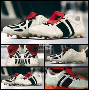 2017 Predator Mania Champagne FG Tacos de fútbol para los zapatos de los hombres de alta calidad para hombre Botas de fútbol Deporte fútbol al aire de arranque zapatillas de deporte Tamaño 39-45