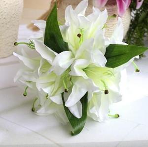 Party 23 cm 14 Köpfe Calla Lily Künstliche Blume Seide Real Touch Dekoration Blumen Hochzeit Bouquet Dekorative Blumen