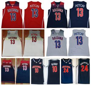 Erkek Arizona Wildcats DeAndre Ayton Koleji Basketbol Gömlek Vintage Andre Iguodala Mike Bibby Dikişli Üniversitesi Formalar