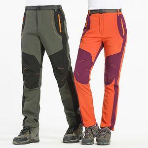 Novas Mulheres Dos Homens de Inverno de Pesca Caminhadas Calças Calças Softshell Ao Ar Livre À Prova D 'Água À Prova de Vento Calças para Camping Esqui Escalada Esportes