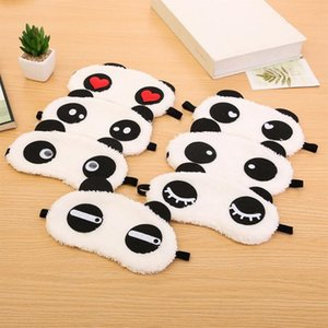 Cute Panda Sleeping Face Maschera per gli occhi Blindfold Eyeshade Travelling Sleep Cotton Eyepatch Eye Cover Sanità