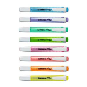 Paquete de 8 Nuevo Swan Swing Cool Pocket Resaltador Marcador 3 mm Línea gruesa Student Note Fluorescente Surtido 8 colores