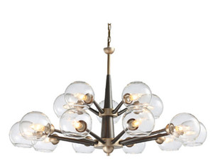 Regron Lampadario moderno Luminari Lampadario a Led naturale Lampada da soffitto in vetro idilliaco Lampadario a luce bianca per soggiorno in hotel