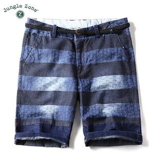 Pantaloncini denim a righe estate JUNGLE ZONE uomo cinque pantaloni Slim tendenza selvaggio di 5 punti pantaloni marea maschile Shorts 8766