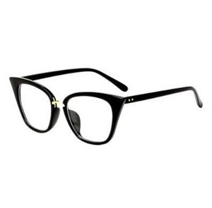 Vintage Cat Eye Square Frame Spectacles Unisex Clear Lens Full Frame Non-prescription Optical Glasses Fashion Outdoor Eyewear