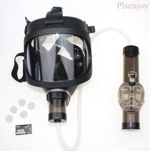 Gaz Maskesi Bong YENİ Arrivel Su Shisha Akrilik Boru Sillicone Silikon Boru Ücretsiz Kargo Toptan ile Nargile Tütün Tüpleri Maske Sigara