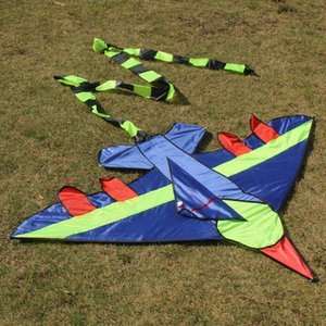 Children Flying Kite Novelty Cartoon Design Airplane Shape Kites with Long Tails Outdoor Fun Sports Kids Toy