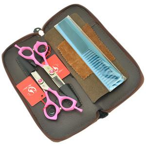 6.0 pulgadas Meisha Best Set de tijeras de pelo profesional de alta calidad de corte japonés Clipper Barbers tijeras de adelgazamiento recorte Tesouras HA0435