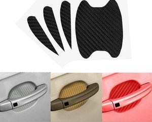 Yeni Araba Kapı Kolu Sticker Araba El Kapak 3D Karbon Fiber Bilek Sticker Scratch Çıkartmalar 50 Takım