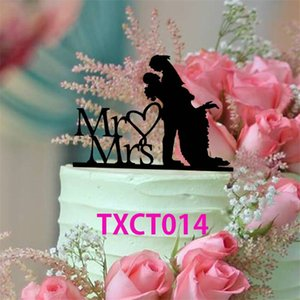 """MrMrs"" Customized Acrylic Cake Topper Topper Pretty Supplies Romantic Bride and Groom Wedding Cake Accessories Torta decorativa TX014"