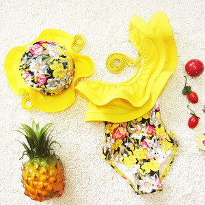 New Fashion Girls Beachwear New One-Piece Meninas Swimsuit Crianças Maiô Natação Plavky Beachwear Crianças Swimsuit