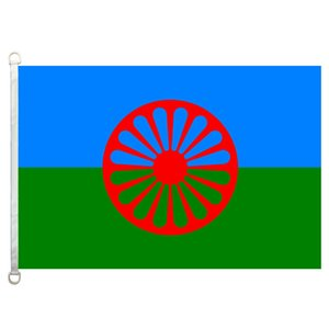 Zigeunerflagge Banner 3X5FT-90x150cm 100% Polyester, 110gsm Kettenwirkware Outdoor-Flagge