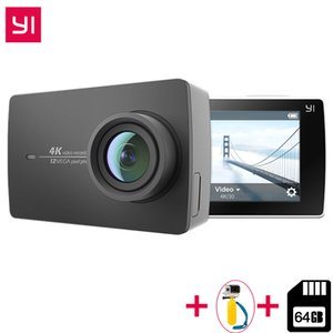 "Бесплатная 64 ГБ SD-карта для Xiaomi YI 4K Action Camera IMX377 12MP Ambarella A9SE ARM 4K / 30 155 градусов EIS LDC 2.19 "" экран Retina HD"
