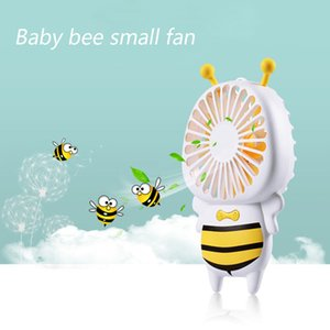 Hot HANDY USB charge Fan Mini Bee Handle Charging Electric Mans Thin Handble Luminous Night Light Light For Home Office Gifts 3 Colors