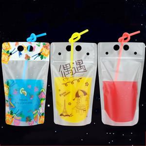 A embalagem transparente plástica descartável Handheld do saco da bebida dos sacos ensaca a embalagem não tóxica do recipiente do suco do chá do fruto 0 jcy 22cy