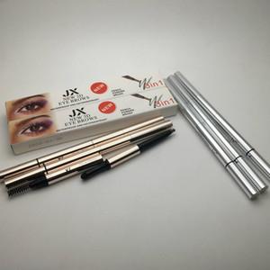 Neue 3D-Augenbrauen 3 in1 Air Cushion Triad Augenbrauenstift Pulver Pinsel Wasserdicht langlebig Make-Up EyeBrow Bleistift Kosmetischer Augenbrauenstift