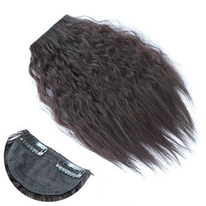 Women's fashion deep wave hair bangs 12.5inch*4inch clips in hair pieces synthetic hair extensions