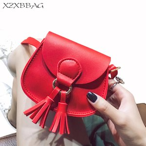 XZXBBAG Children Fashion Tassels Mini Messenger Bags Girl PU Leather Coin Purse Pouch Kids Cute Crossbody Case Girl Shoulder Bag