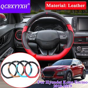 Hyundai Kona Için QCBXYYXX Araba Styling Encino 2018-2019 Direksiyon Deri direksiyon-Kapak Kapak İç aksesuar