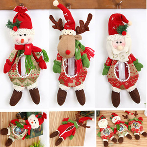 New Christmas Doll Geschenke Taschen Santa Schneemann Elch Rentier Puppe Candy Apple Taschen Jar Weihnachten Plüschtiere Ornamente Dekorationen HH7-1559