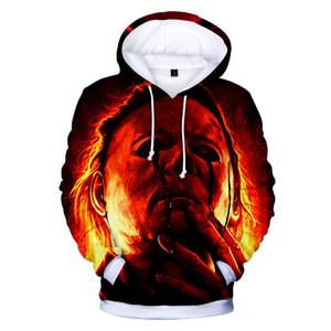 Новые моды Michael Myers Halloween Cosplay 3d печати Толстовки Мода Одежда Женщины / Мужчины Толстовка Повседневный пуловеры K373