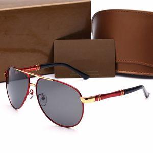 Marka Güneş Yeni Güneş Gözlükleri Marka Tasarımcısı Metal Kare Şekli Retro Erkekler Tasarımcı Marka Güneş Gözlüğü Lens Gözlük Orijinal Kılıfları ile