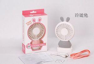 Mini Portable Fan Cartoon rabbit USB Rechargeable Foldable Handheld Summer Air Cooler Cooling Fan Portable Fan Kids Toys